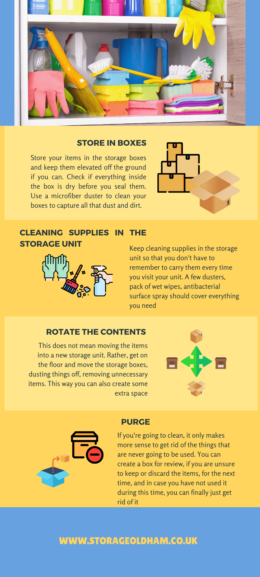 How to clean your self-storage unit? 5 easy steps to keep your storage units clean 1